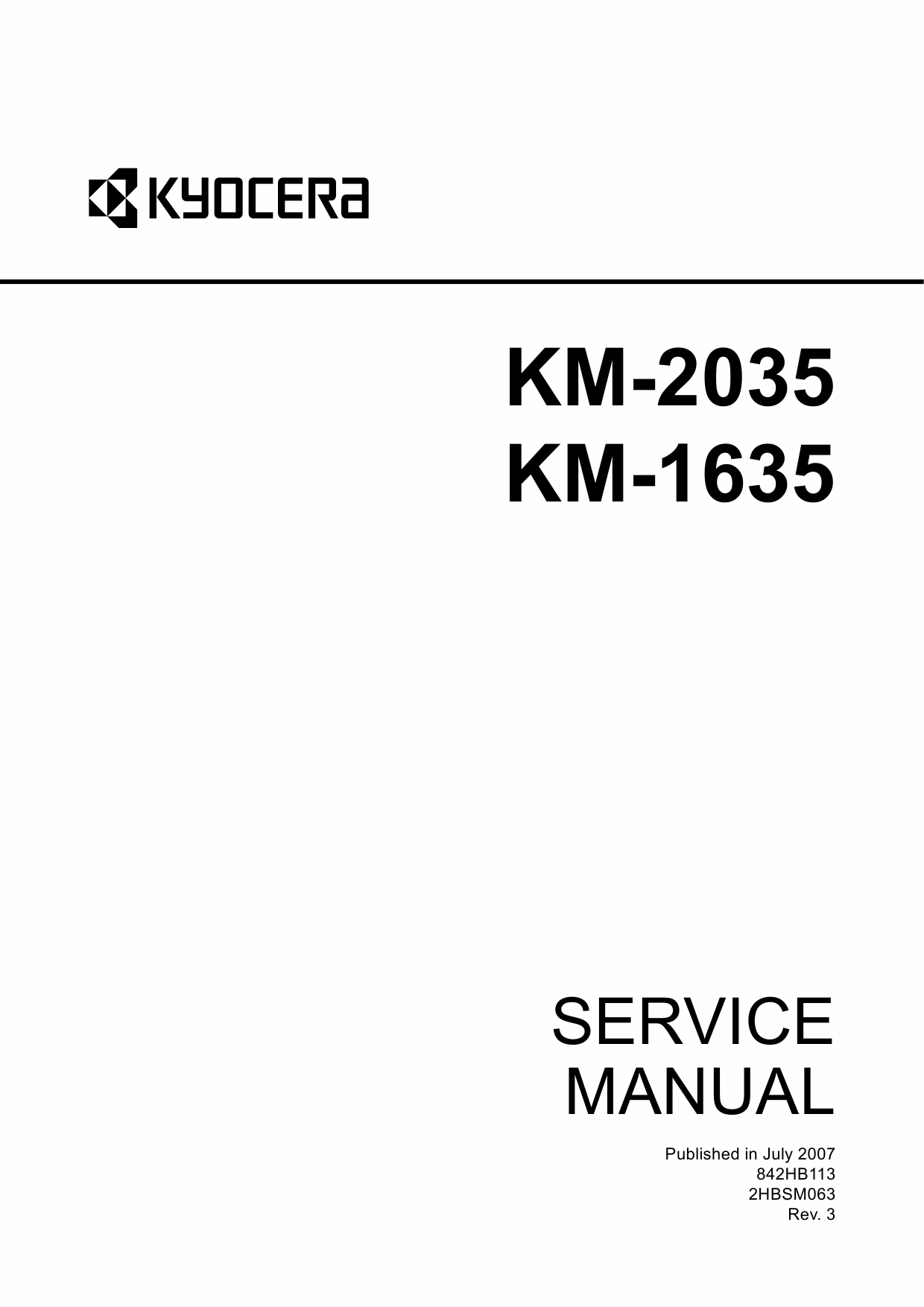 KYOCERA Copier KM-2035 1635 Service Manual-1